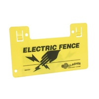 Electric Fence Warning Sign Yellow